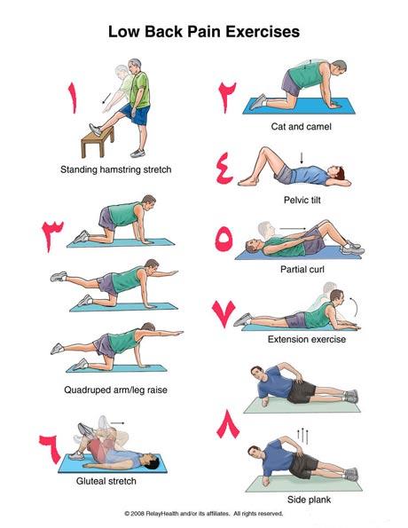 ورزش برای کمر درد