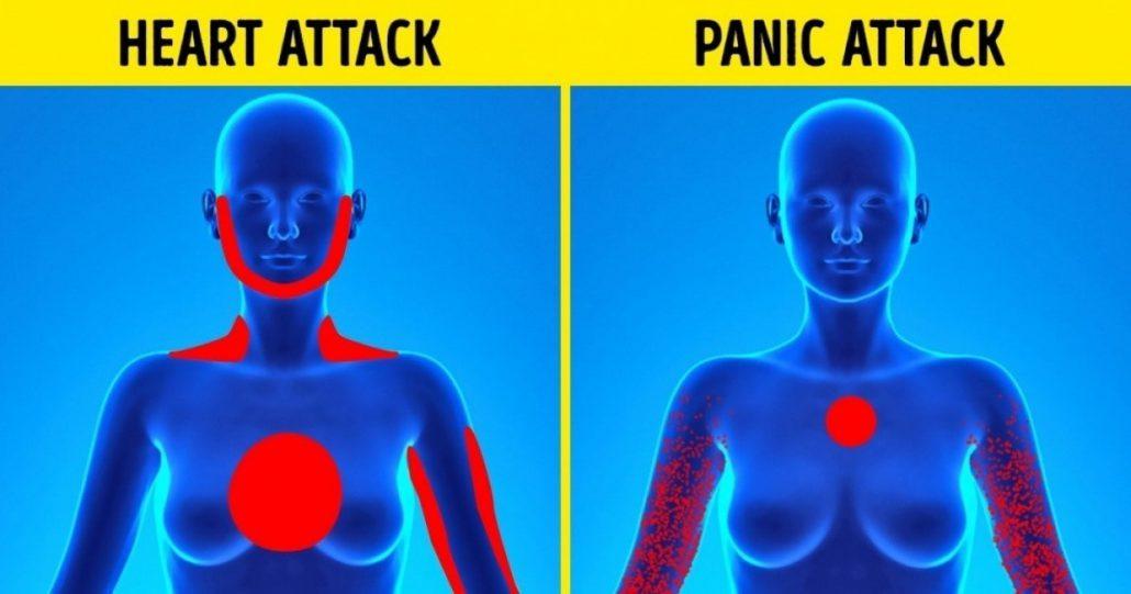 تفاوت های حمله قلبی با حمله پانیک